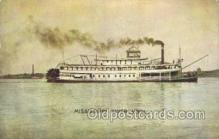 shi075815 - Mississippi River View Ferry Boat, Ferries, Ship, Ships, Postcard Post Cards