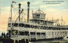 shi075817 - Excursion Boat Columbia Ferry Boat, Ferries, Ship, Ships, Postcard Post Cards