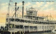shi075818 - SS Columbia, Muscatine, Iowa, USA Ferry Boat, Ferries, Ship, Ships, Postcard Post Cards