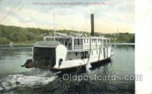 shi075830 - The Della Collins, Augusta, ME USA Ferry Boats, Ferries, Steamer, Steam Boat, Steamboat, Ship, Ships, Postcard Post Cards