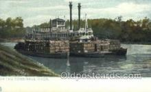 shi075835 - Tombigbee River Ferry Boats, Ferries, Steamer, Steam Boat, Steamboat, Ship, Ships, Postcard Post Cards
