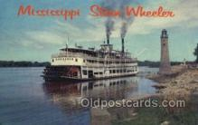shi075845 - Mississippi Stern Wheeler Ferry Boats, Ferries, Steamer, Steam Boat, Steamboat, Ship, Ships, Postcard Post Cards
