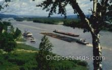 shi075854 - The Mighty Mississippi Ferry Boats, Ferries, Steamer, Steam Boat, Steamboat, Ship, Ships, Postcard Post Cards