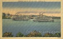shi075856 - Steamboat Race On The Ohio River Ferry Boats, Ferries, Steamer, Steam Boat, Steamboat, Ship, Ships, Postcard Post Cards