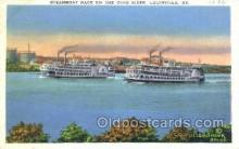 shi075857 - Steamboat Race On The Ohio River Ferry Boats, Ferries, Steamer, Steam Boat, Steamboat, Ship, Ships, Postcard Post Cards