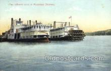 shi075858 - Two Different Styles Of Mississippi Steamers Ferry Boats, Ferries, Steamer, Steam Boat, Steamboat, Ship, Ships, Postcard Post Cards