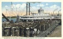 shi075871 - On Loading Cotton New Orleans Ferry Boats, Ferries, Steamer, Steam Boat, Steamboat, Ship, Ships, Postcard Post Cards
