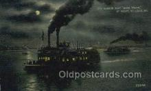 shi075885 - Mark Twain At Night Ferry Boats, Ferries, Steamer, Steam Boat, Steamboat, Ship, Ships, Postcard Post Cards