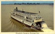 shi075890 - Greetings from Blytheville, Ark, USA Ferry Boat Postcards Old VIntage Antique Post Card