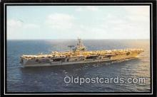 shi080002 - USS Dwight D Eisenhower Warships, Oct 18, 1977 Ship Postcard Post Card