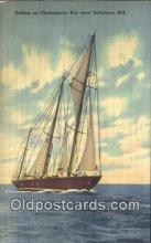 shi100006 - Baltimore, Maryland, MD USA Sail Boat Postcard Post Card