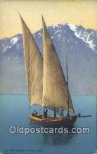 shi100009 - Barque Du Lac Leman Sail Boat Postcard Post Card