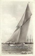 shi100011 - White heather Real Photo - Sail Boat Postcard Post Card