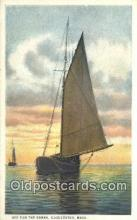 shi100016 - Gloucester, Massachusetts, MA USA Sail Boat Postcard Post Card