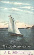shi100023 - JE Somerville Sail Boat Postcard Post Card