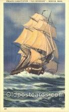 shi100024 - Frigate Constitution, Boston, Massachusetts. MA USA Sail Boat Postcard Post Card