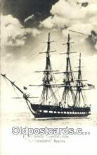 shi100049 - US Frigate Constitution Old Ironsides, Boston, Massachusetts, MA USA Sail Boat Postcard Post Card
