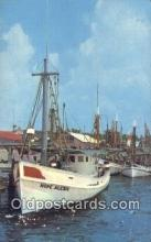 shi100070 - Biloxi Shrimp Boats, Biloxi, Mississippi, MI USA Sail Boat Postcard Post Card