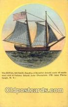 shi100077 - Royal Salvage Flagship, Benedict Arnold Sail Boat Postcard Post Card