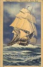 shi100078 - Frigate Constitution, Old Ironsides, Boston, Massachusetts. MA USA Sail Boat Postcard Post Card