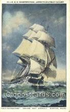 shi100082 - USS Constitution, Old Ironsides, Boston, Massachusetts, MA USA Sail Boat Postcard Post Card