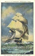 shi100084 - USS Constitution, Old Ironsides, Boston, Massachusetts, MA USA Sail Boat Postcard Post Card