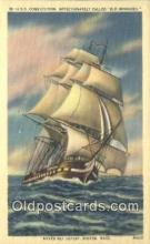 shi100087 - USS Constitution, Old Ironsides, Boston, Massachusetts, MA USA Sail Boat Postcard Post Card