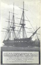 shi100089 - US Frigate Constitution Old Ironsides, Boston, Massachusetts, MA USA Sail Boat Postcard Post Card