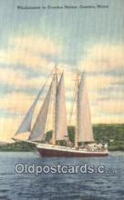 shi100094 - Windjammer, Camden Harbor, Camden, Maine, ME USA Sail Boat Postcard Post Card