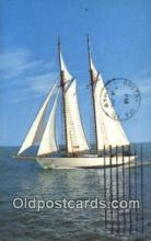 shi100097 - Seventy Two Foot Schooner, Cape Cod, Massachusetts, MA USA Sail Boat Postcard Post Card