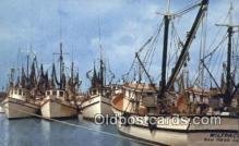 shi100108 - Shrimp Fleet, Key West, Florida, FL USA Sail Boat Postcard Post Card
