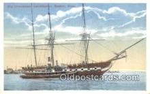 shi100112 - Old Ironsides, Boston, Massachusetts, MA USA Sail Boat Postcard Post Card