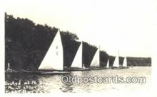 shi100114 - Real Photo - Sail Boat Postcard Post Card