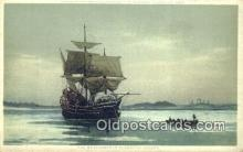 shi100122 - Mayflower In Plymouth Harbor Sail Boat Postcard Post Card