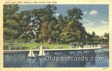 shi100124 - Tilly Park, Long Island, New York, NY USA Sail Boat Postcard Post Card