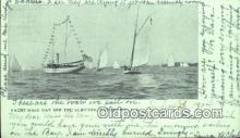 shi100144 - Yacht Race, Patchogue, Long Island, New York, NY USA Sail Boat Postcard Post Card