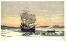 shi100147 - Mayflower, Plymouth Harbor Sail Boat Postcard Post Card
