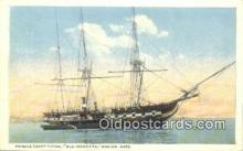 shi100148 - Frigate Constitution, Old Ironsides, Boston, Massachusetts, MA USA Sail Boat Postcard Post Card
