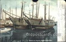 shi100159 - Roussea and Desdamona, New Bedford, Massachusetts, MA USA Sail Boat Postcard Post Card