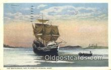 shi100161 - The Mayflower , Plymouth Harbor, Massachusetts, MA USA Sail Boat Postcard Post Card