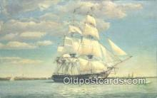 shi100185 - US Frigate Constellation, Baltimore, Maryland, MD USA Sail Boat Postcard Post Card