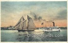 shi100188 - Steamer Southport, Boothbay Harbor, Maine, ME USA Sail Boat Postcard Post Card