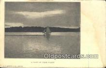 shi100190 - Bear Island  Sail Boat Postcard Post Card