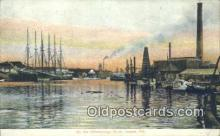 shi100191 - Hillsborough River, Tampa, Florida, FL USA Sail Boat Postcard Post Card