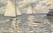 shi100192 - Sail Boat Postcard Post Card