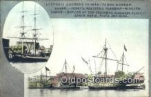 shi100196 - Restored Flagship Niagara and Replicas Of Columbus Ships, Manitowoc Harbor Sail Boat Postcard Post Card