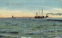 shi100198 - Harbor, Charlotte, New York, NY USA Sail Boat Postcard Post Card