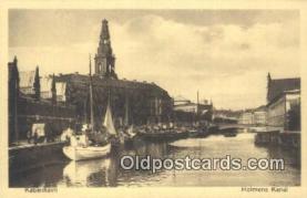 shi100204 - Kobenhavn Holmens Kanal Sail Boat Postcard Post Card