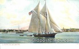 shi100205 - Seiner, Gloucester, Massachusetts, MA USA Sail Boat Postcard Post Card