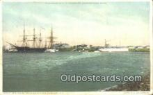 shi100208 - US Naval Training Station, Newport, Rhode Island, RI USA Sail Boat Postcard Post Card